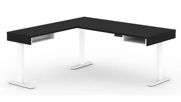 """L Shaped Desks Bestar Office Furniture 72""""W L-Shaped Standing Desk"""