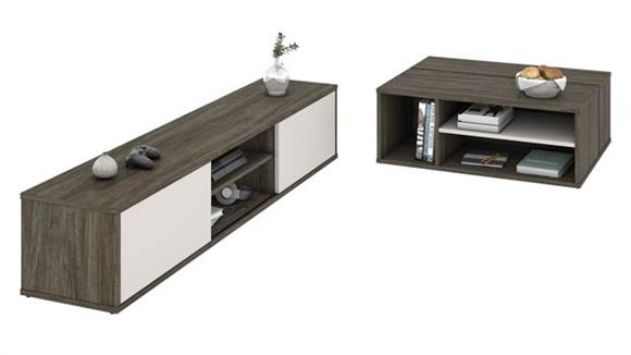 Coffee Tables Bestar Office Furniture 2-Piece TV Stand and Coffee Table Set
