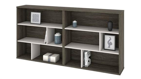Bookcases Bestar Office Furniture 2-Piece Asymmetrical Shelving Unit Set
