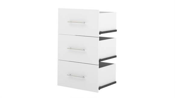 "Storage Cabinets Bestar Office Furniture 3-Drawer Set for 25"" Storage Unit"