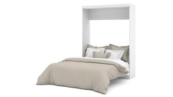 """Murphy Beds Bestar Office Furniture 65"""" W Queen Murphy Wall Bed"""