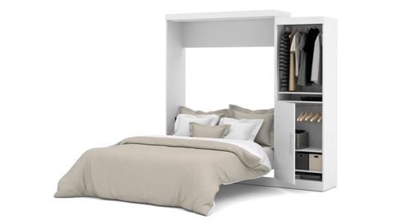 """Murphy Beds Bestar Office Furniture 90"""" W  Queen Murphy Wall Bed with Storage Unit"""