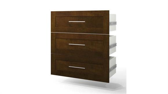 "Storage Cabinets Bestar Office Furniture 3-Drawer Set for 36"" Storage Unit"