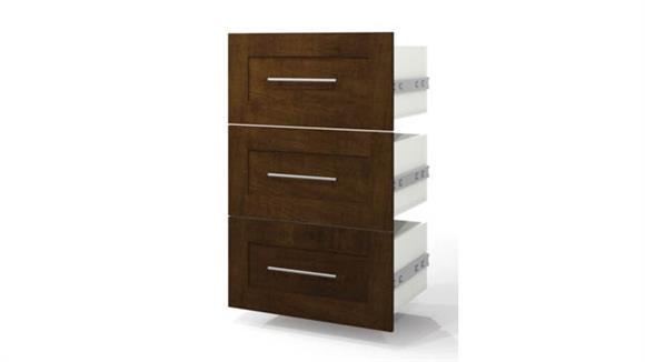 "Storage Cabinets Bestar Office Furniture 3-Drawer Set for 25"" Storage Unit"