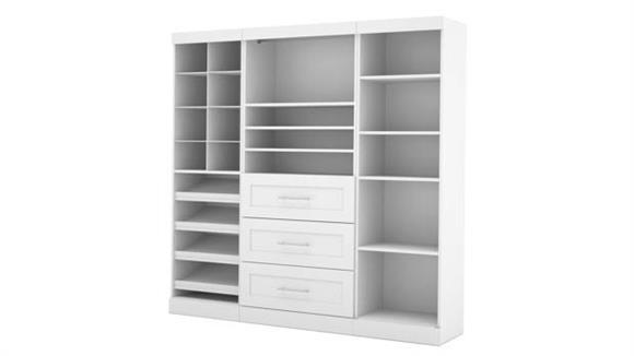 "Storage Cabinets Bestar Office Furniture 86"" Classic Kit"