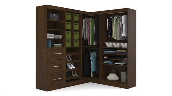 "Storage Cabinets Bestar Office Furniture 82"" Corner Kit"