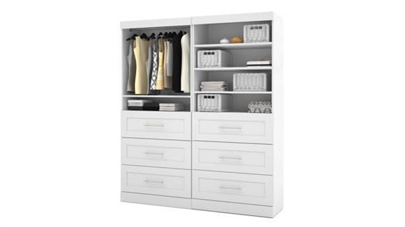 "Storage Cabinets Bestar Office Furniture 72"" Classic Kit"