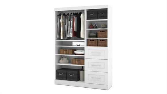 "Storage Cabinets Bestar Office Furniture 61"" Classic Kit"