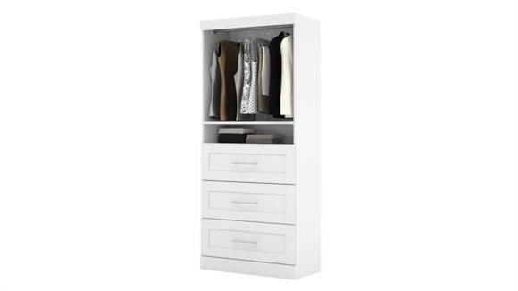 "Storage Cabinets Bestar Office Furniture 36"" Storage Unit with 3-Drawer Set"