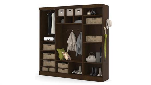 "Storage Cabinets Bestar Office Furniture 86"" Mudroom Kit"