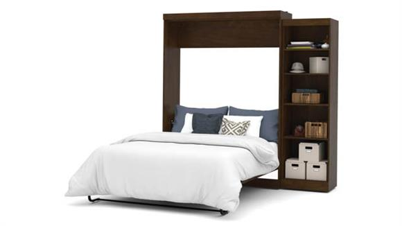 """Murphy Beds Bestar Office Furniture 90"""" W Queen Murphy Bed with Storage Unit"""