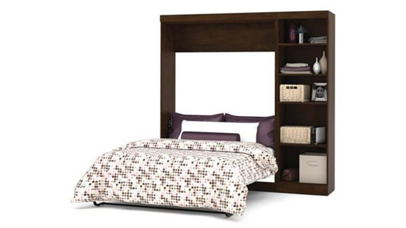 """Murphy Beds Bestar Office Furniture 84"""" W Full Murphy Bed with Storage Unit"""