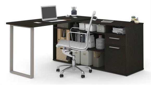 "L Shaped Desks Bestar Office Furniture 59"" W L-Shaped Desk"