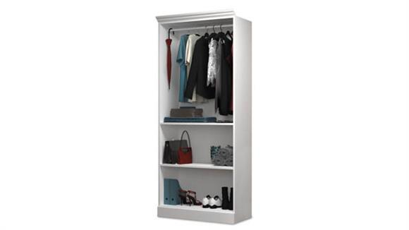 "Storage Cabinets Bestar Office Furniture 36"" Closet Storage Shell"
