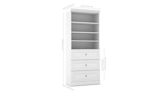 """Storage Cabinets Bestar Office Furniture 36"""" Storage Unit"""