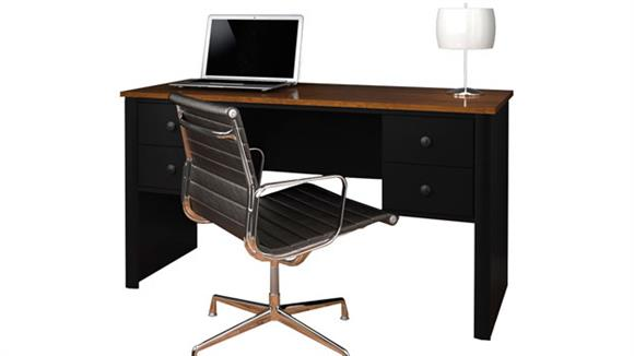 Executive Desks Bestar Office Furniture Double Pedestal Executive Desk