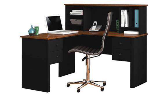 L Shaped Desks Bestar Office Furniture L Shaped Desk with Hutch