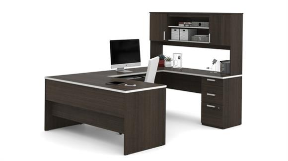 U Shaped Desks Bestar Office Furniture U-Shaped Desk