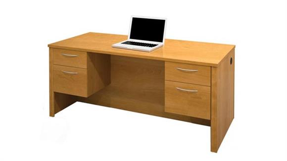 Executive Desks Bestar Office Furniture Double Pedestal Executive Desk 60450