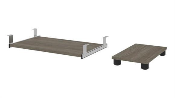 Desk Accessories Bestar Office Furniture Keyboard Shelf and CPU Platform