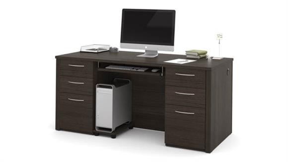 "Executive Desks Bestar Office Furniture 66"" Executive Desk Kit"