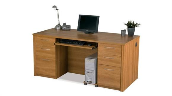 "Executive Desks Bestar Office Furniture 66"" Double Pedestal Executive Desk 60850"