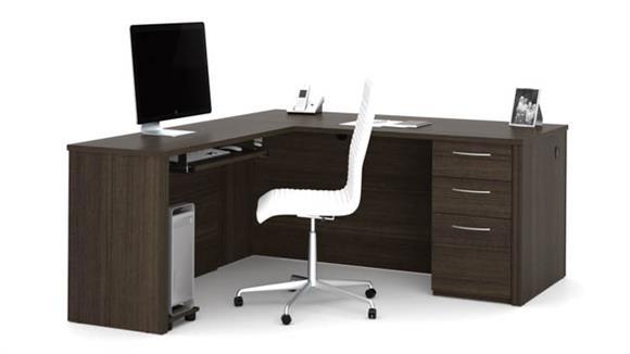 "L Shaped Desks Bestar Office Furniture 66"" L-Shaped Desk"