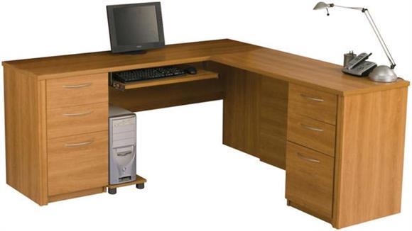 L Shaped Desks Bestar Office Furniture L Shaped Desk