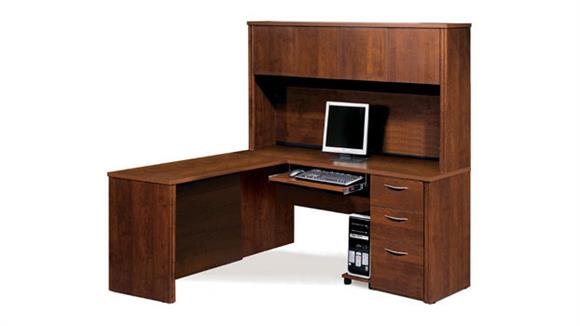 L Shaped Desks Bestar Office Furniture L Shaped Desk with Hutch 60865