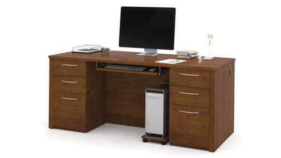 "Executive Desks Bestar Office Furniture 71"" Executive Desk Kit"