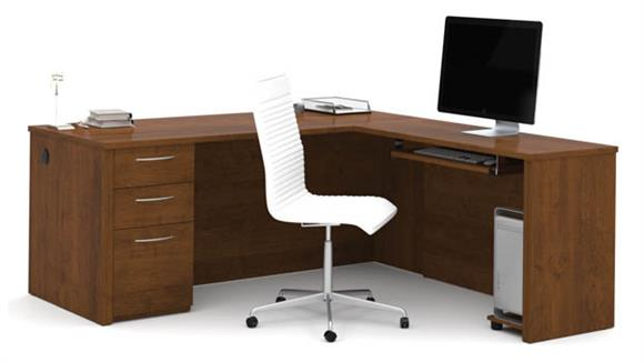 "L Shaped Desks Bestar Office Furniture 71"" L-Shaped Desk"