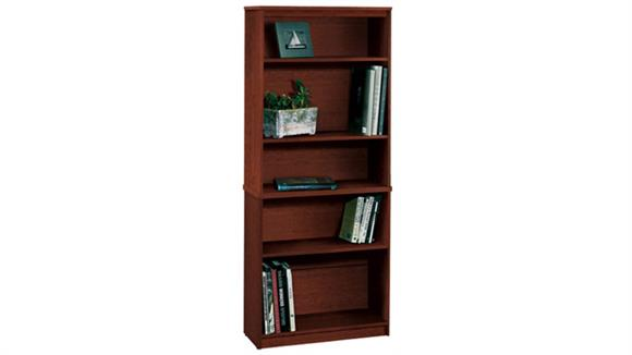 "Bookcases Bestar Office Furniture 72"" Tuscany Brown Bookcase with 5 Shelves 65715"