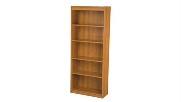 "Bookcases Bestar Office Furniture 72"" Cappuccino Cherry Bookcase with 5 Shelves"