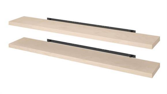 """Shelving Bestar Office Furniture 2 Piece 12"""" x 72"""" Lightweight Floating Shelf Set"""