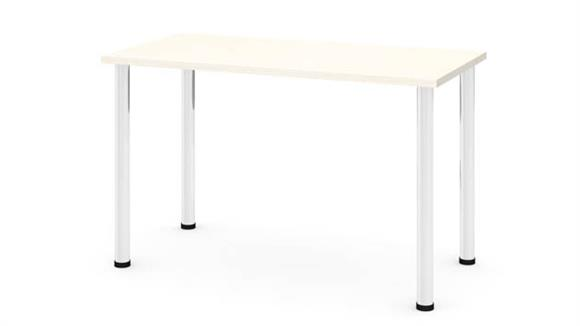 """Computer Tables Bestar Office Furniture 24"""" x 48"""" Table with Round Metal Legs"""