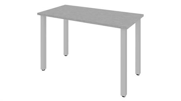 """Computer Tables Bestar Office Furniture 48""""W 24""""D Table Desk with Square Metal Legs"""