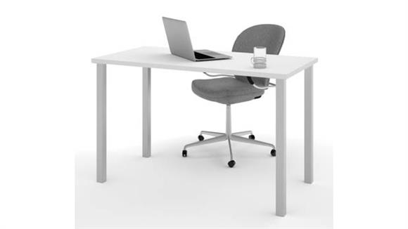 """Computer Tables Bestar Office Furniture 24"""" x 48"""" Table with Square Metal Legs"""