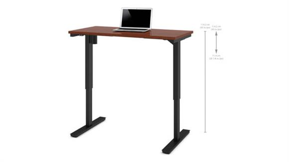 "Adjustable Height Desks & Tables Bestar Office Furniture 24"" x 48"" Electric Height Adjustable Table"