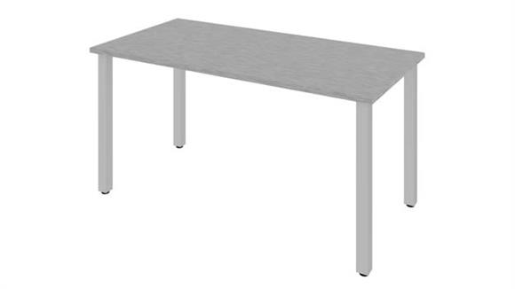 """Computer Tables Bestar Office Furniture 60""""W x 30""""D Table Desk with Square Metal Legs"""