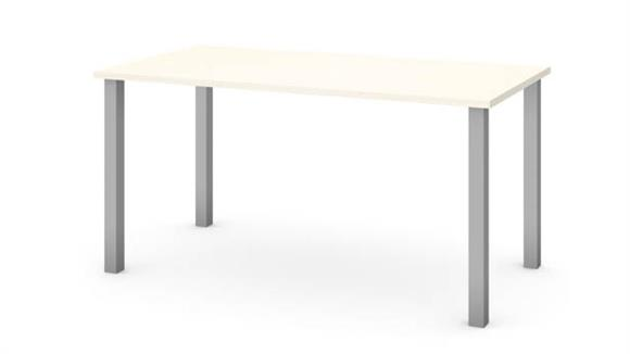 "Computer Tables Bestar Office Furniture 30"" x 60"" Table with Square Metal Legs"