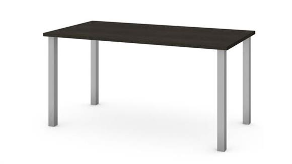 """Computer Tables Bestar Office Furniture 30"""" x 60"""" Table with Square Metal Legs"""
