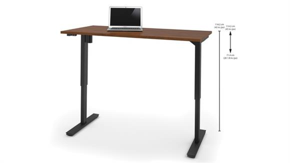 "Adjustable Height Tables Bestar Office Furniture 30"" x 60"" Electric Height-Adjustable Table"