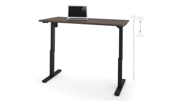 "Adjustable Height Desks & Tables Bestar Office Furniture 30"" x 60"" Electric Height Adjustable Table"