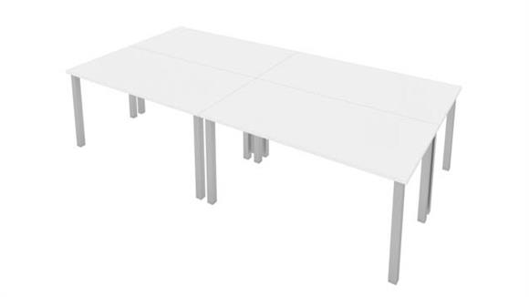"""Computer Tables Bestar Office Furniture 60""""W x 30""""D Table Desks with Square Metal Legs (set of 4)"""