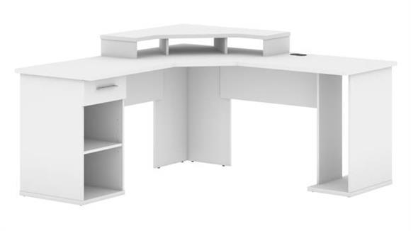"""Corner Desks Bestar Office Furniture 66""""W L-Shaped Corner Gaming Desk"""