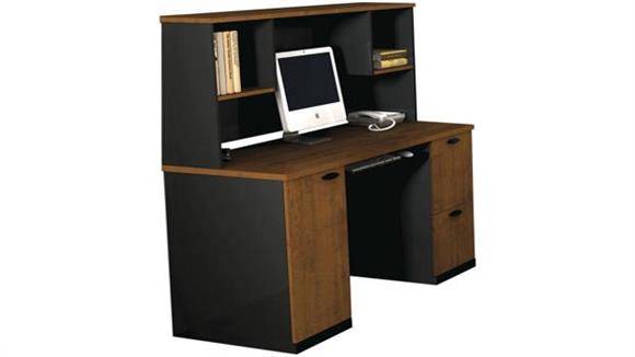 Office Credenzas Bestar Office Furniture Credenza with Hutch 69450
