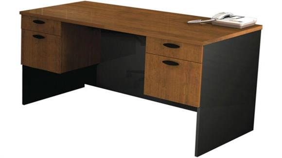 Executive Desks Bestar Office Furniture Double Pedestal Executive Desk 69400