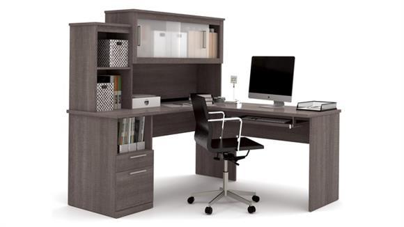 L Shaped Desks Bestar Office Furniture L-Shaped Desk
