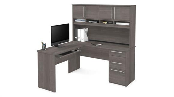 L Shaped Desks Bestar Office Furniture L-Shaped Desk