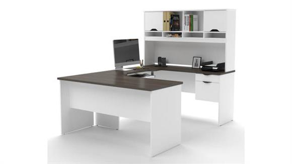 U Shaped Desks Bestar Office Furniture U Shaped Workstation